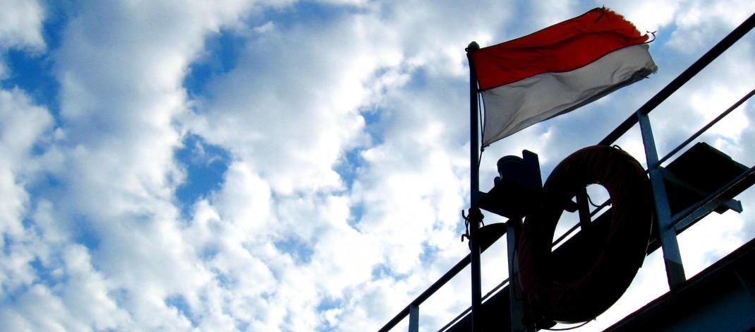 Bendera di Tiang Sekolah