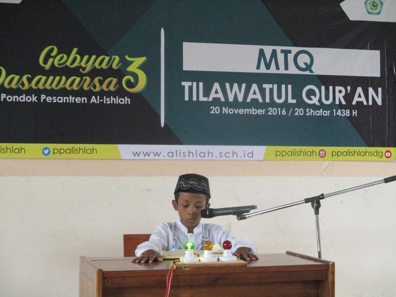 Salah satu peserta MTQ Cabang Tilawatil Qur'an Tingkat SD/MI