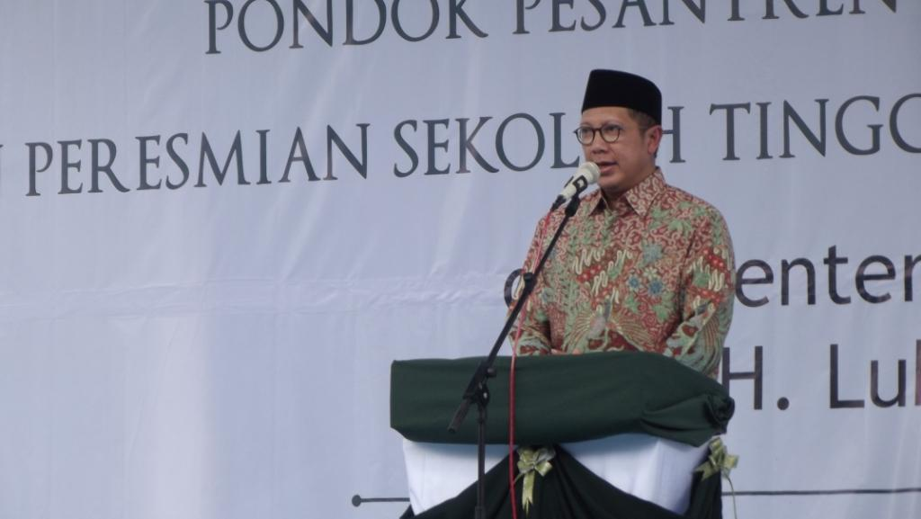 Menteri Agama RI Luqman Hakim beri sambutan di PP. Al-Ishlah