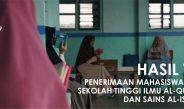 HASIL TES PMB STIQSI 2018-2019